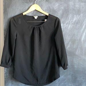 3/4 sleeve sheer blouse